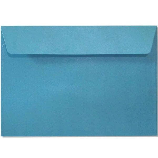 c6 metallic blue envelopes