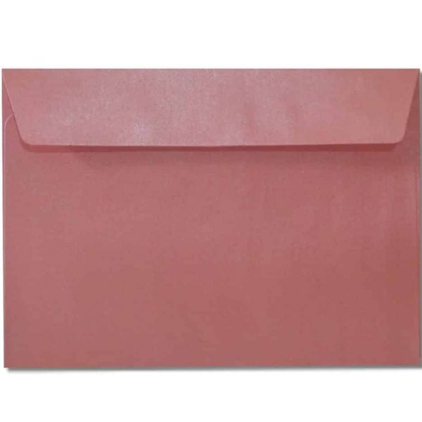 c6 metallic pink envelopes