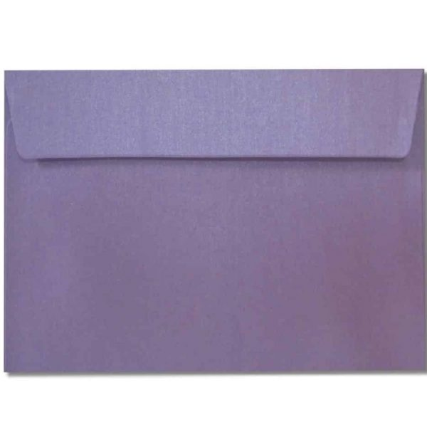 c6 metallic purple envelopes