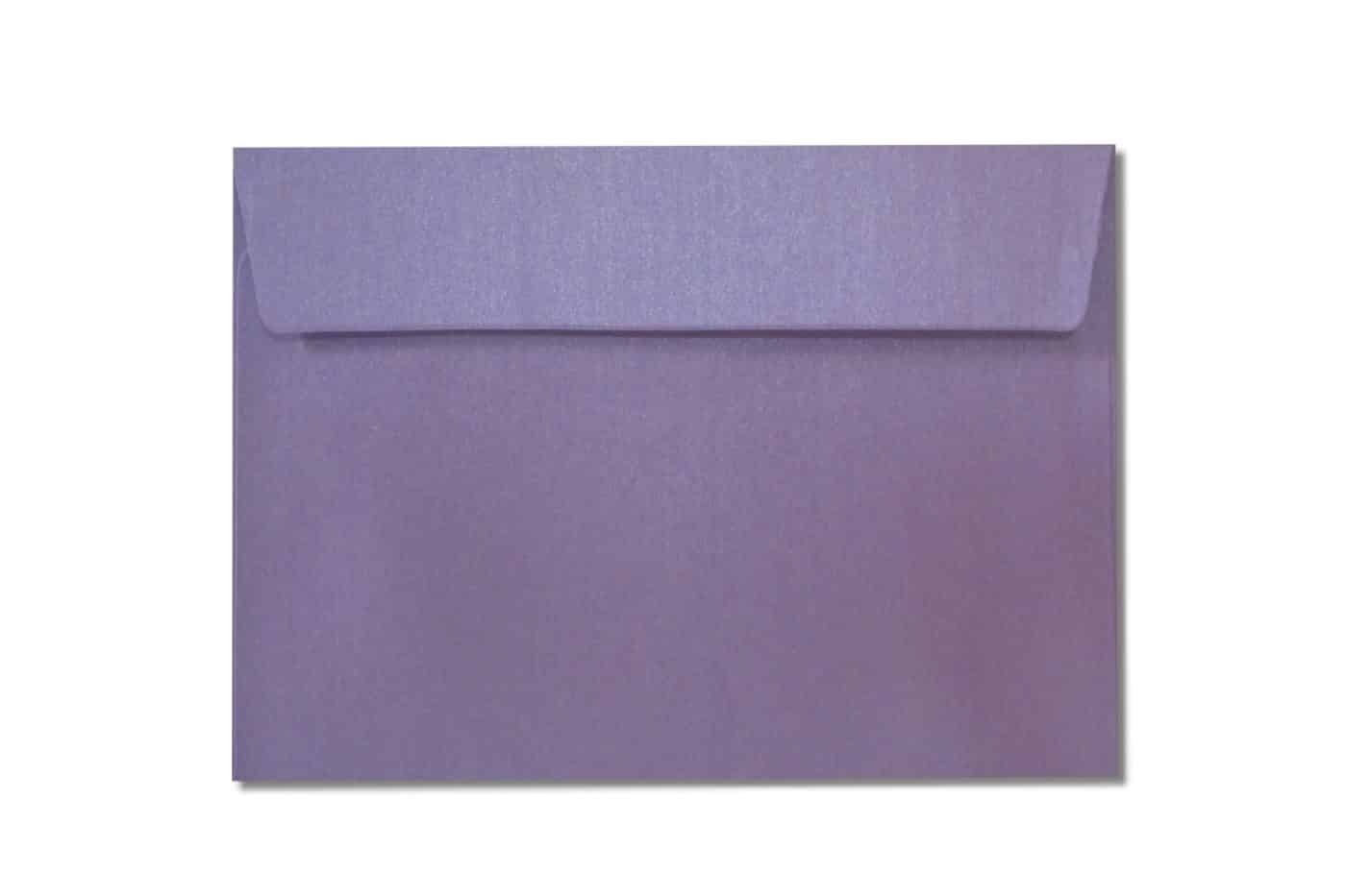 c6 metallic purple envelopes