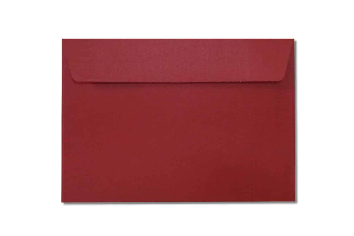 c6 metallic red envelopes