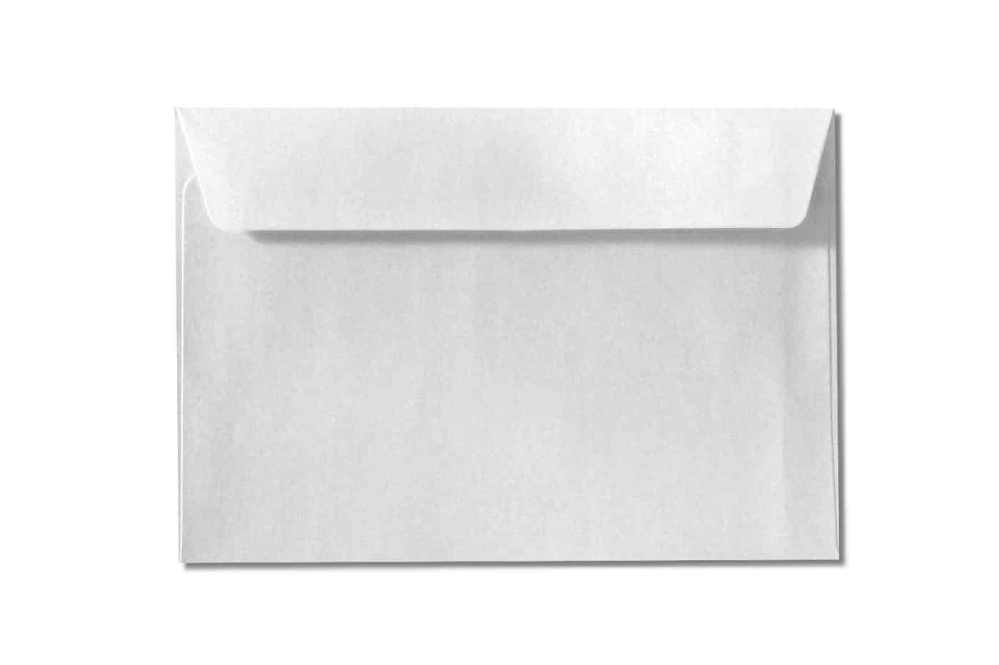 c6 c5 metallic white envelopes