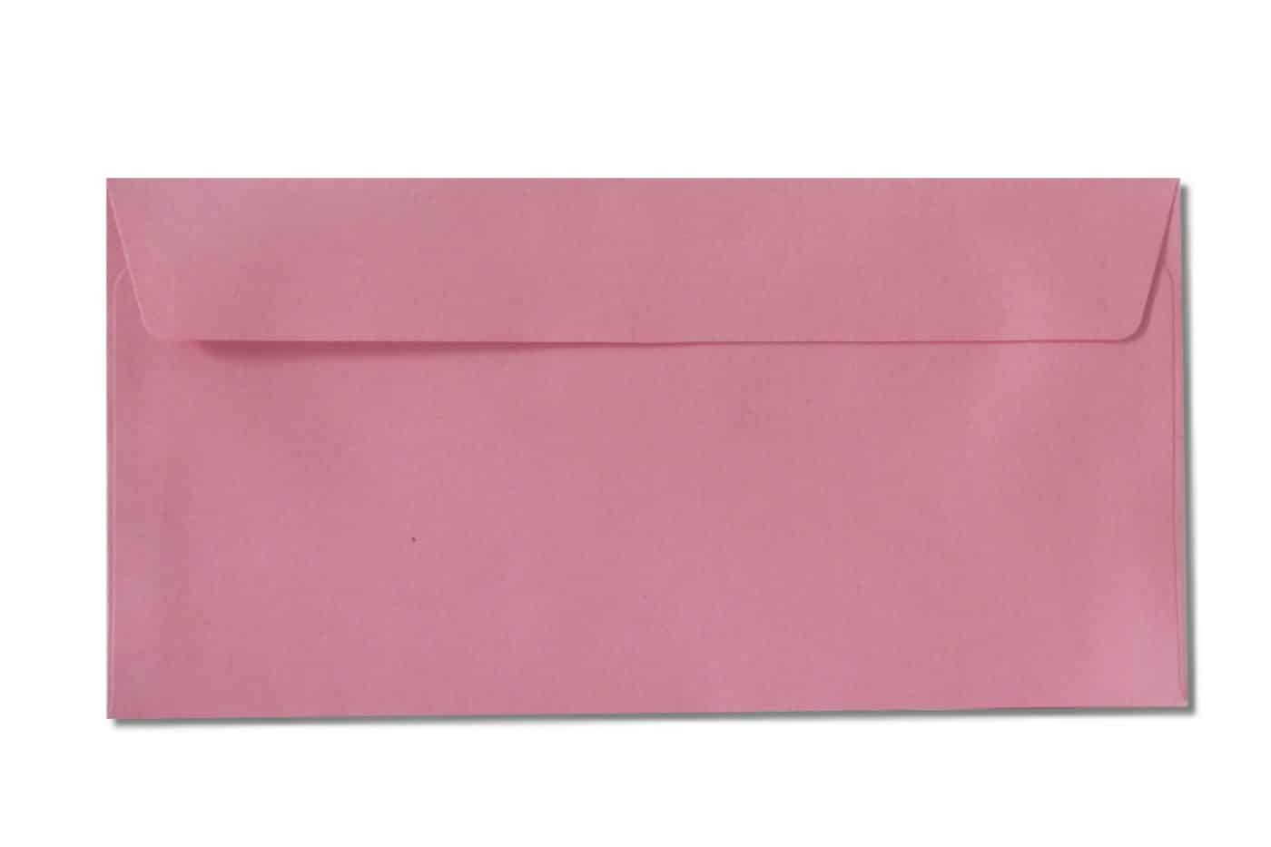 DL pink envelopes 120gsm