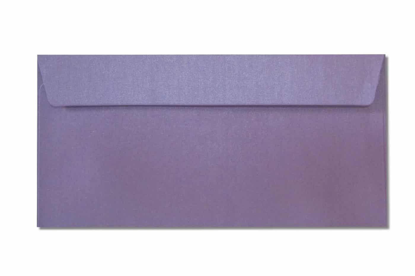 DL metallic envelopes purple