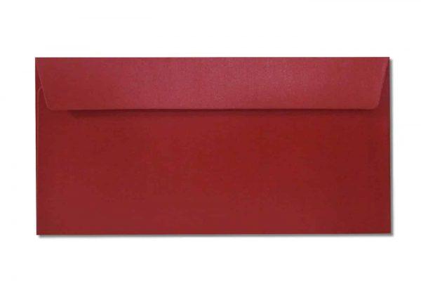 DL metallic envelopes red