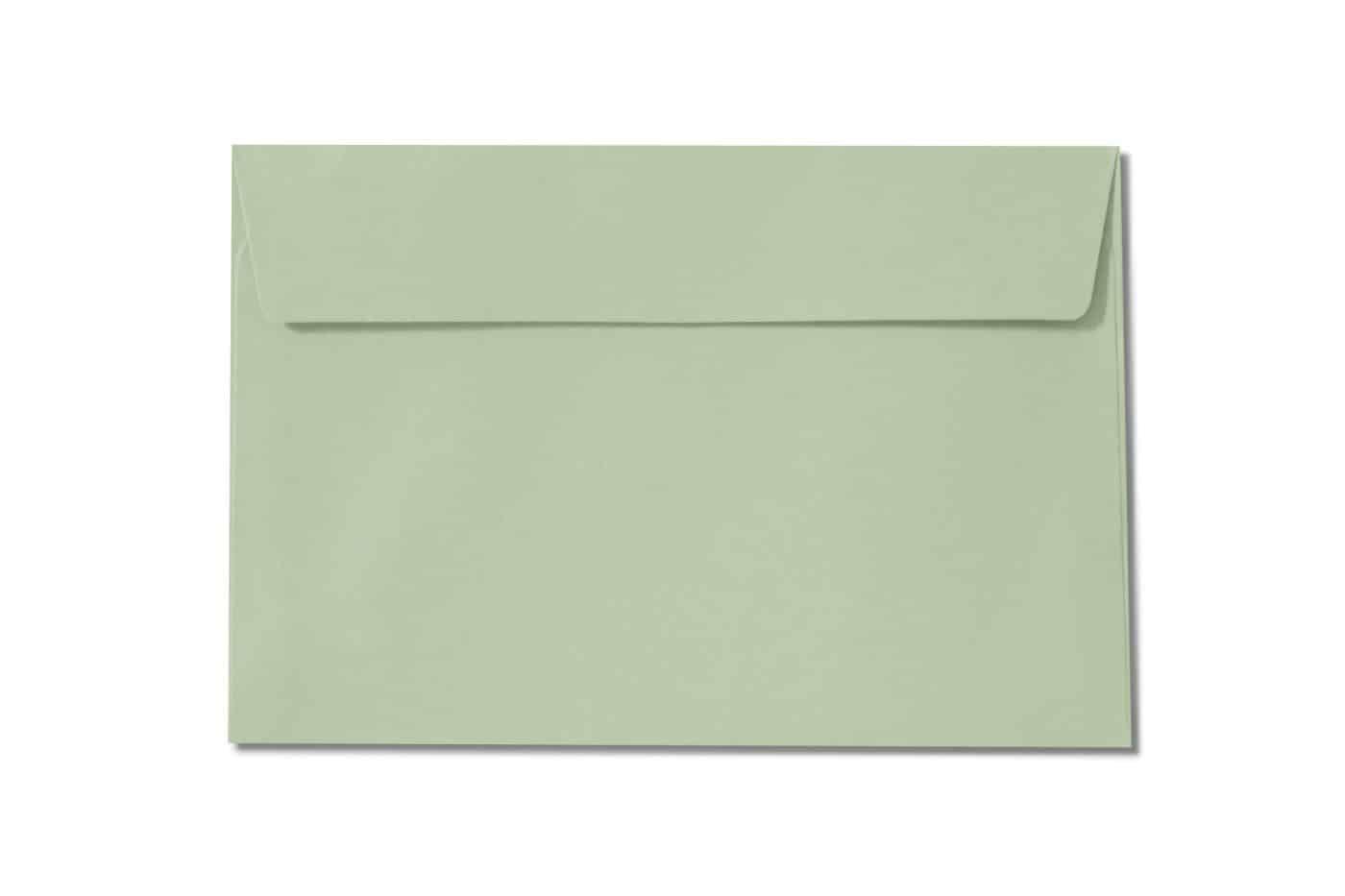 c6 pale green envelopes 110gsm