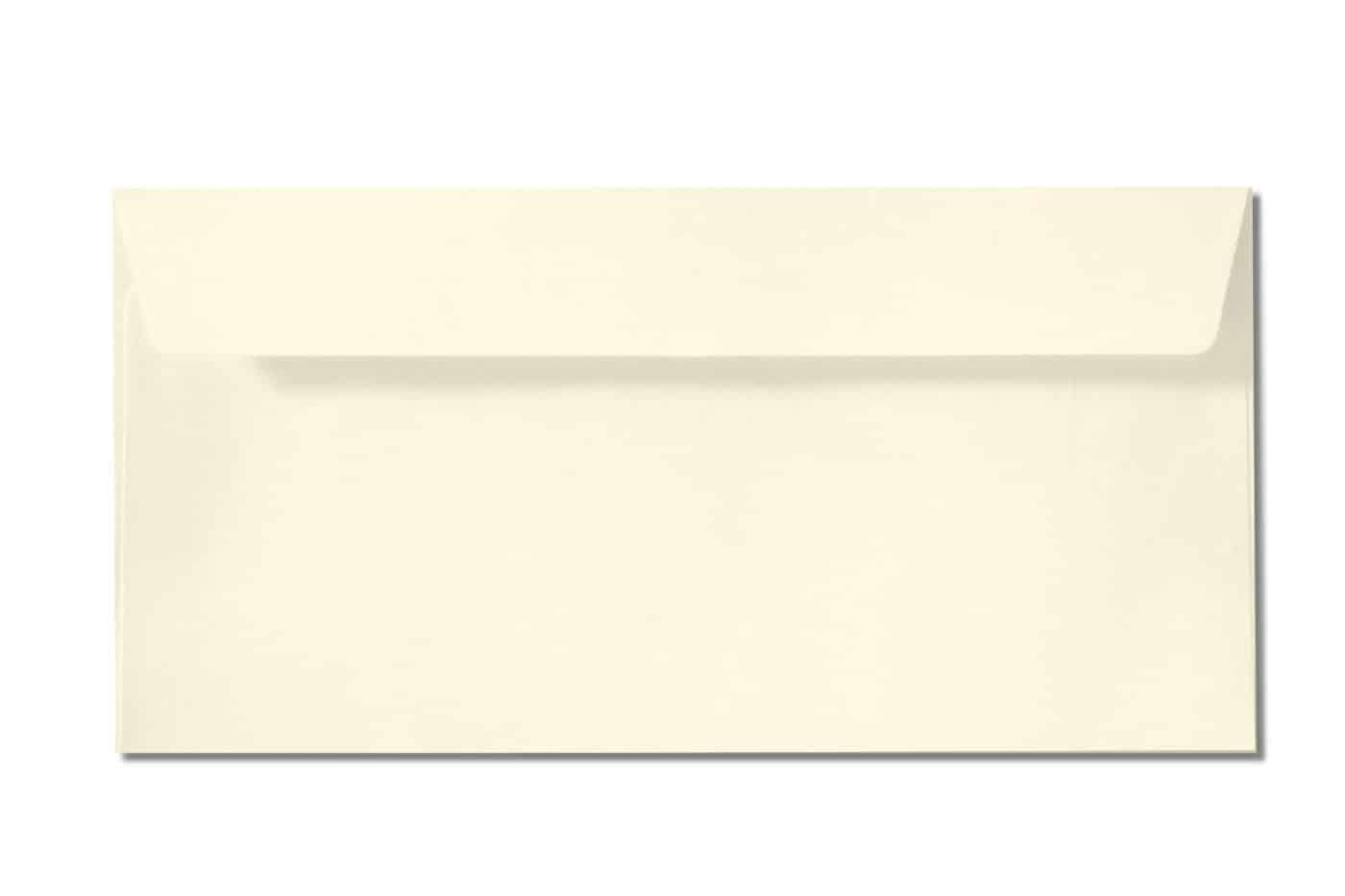 off white DL envelopes